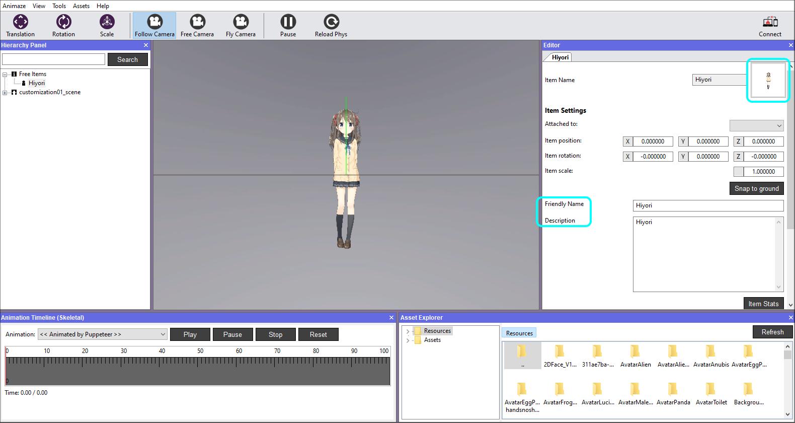 Animaze Editor