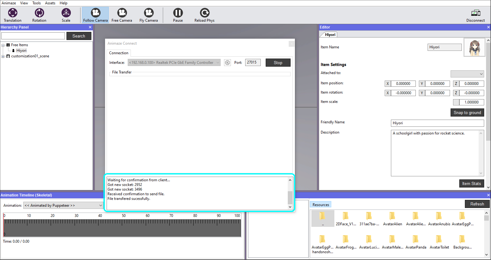 Animaze Editor - Send to Animaze app