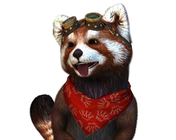 Fluffo the Red Panda Holotech Avatar
