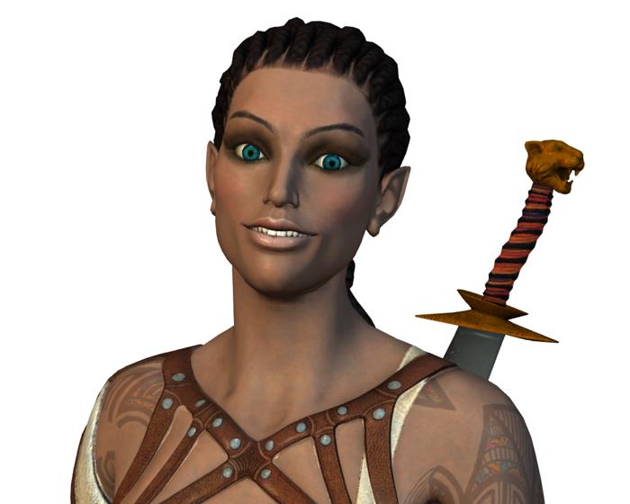 Mittaka the Swordart Mistress Holotech original avatar