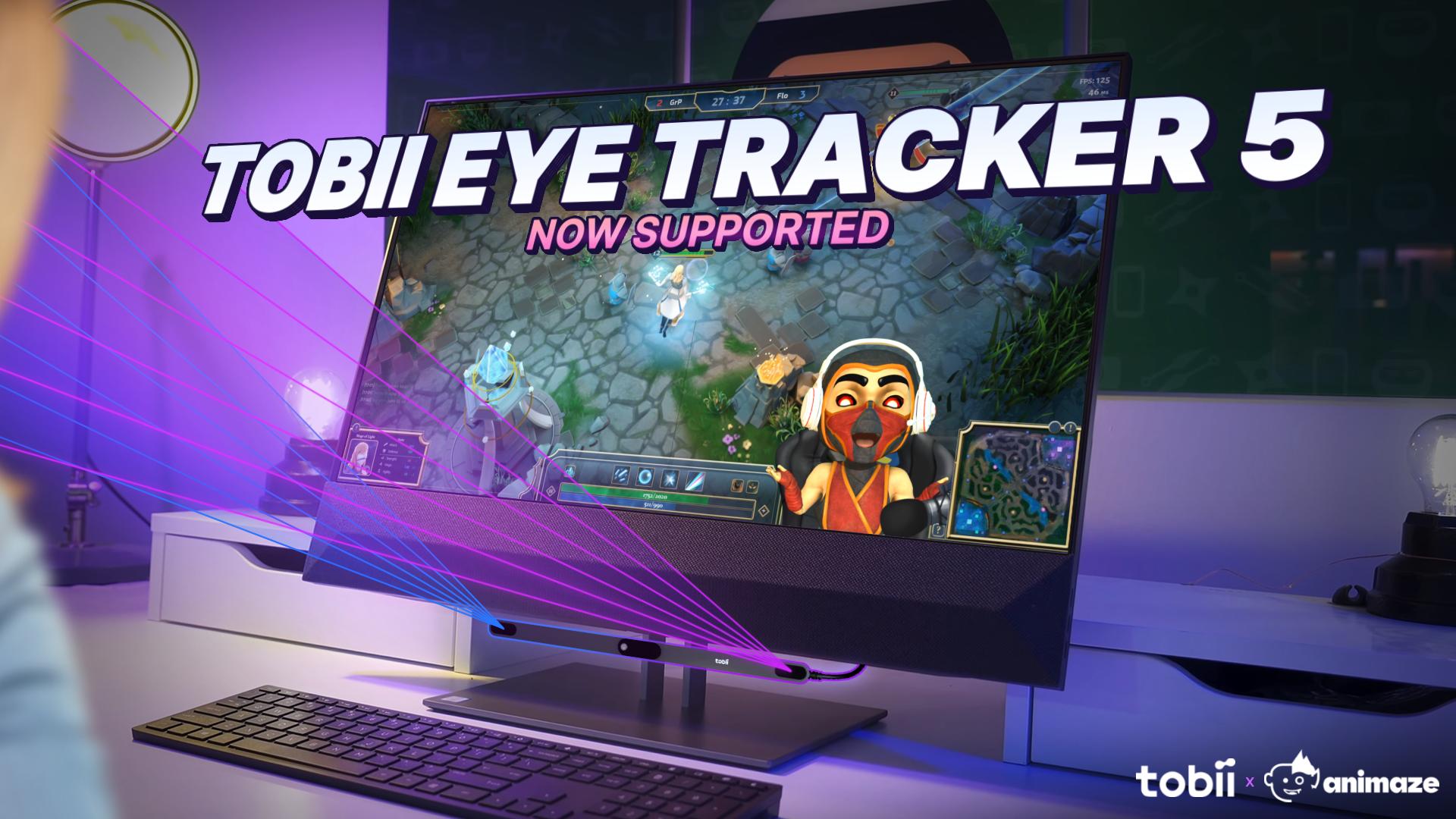 Tobii Eye Tracker available in Animaze